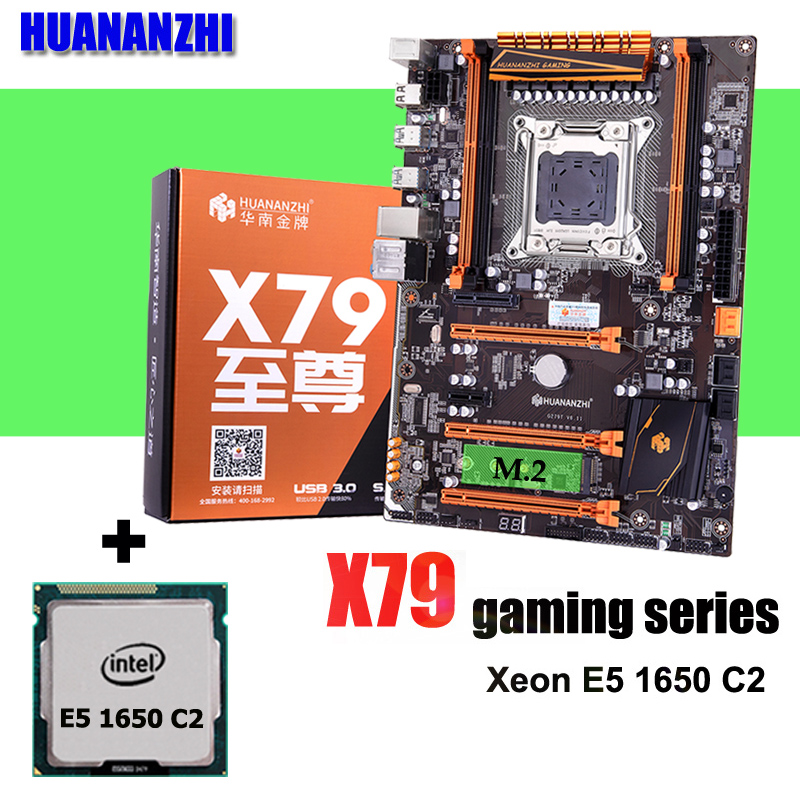 Brand HUANANZHI Deluxe X79 LGA2011 gaming motherboard CPU combos processor Xeon E5 1650 C2 3.2GHz all tested and packed well image