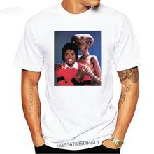 Michael Jackson avec Vs E.T. Et Personnalisé T-Shirt Gilet T-Shirt Hauts Hommes Femmes Top Tee Naturel Anti-Rides T-Shirt O Cou