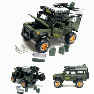 1/28 Diecasts Toy Vehicles Defender Camel Trophy Car Model Sound Light Collection Car Toys For Children Toys Gift Free Shipping