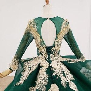 Image 5 - HTL1173 Vestiti da Sera Lunghi Appliques Che Borda Paillette Modello Nappa Lace Up Convenzionale Delle Donne Del Vestito Elegante Abiti De Finalistas