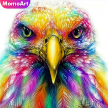 MomoArt Diamond Embroidery Animal Painting Full Square Drill Picture Of Rhinestone Mosaic Owl Decoration Home
