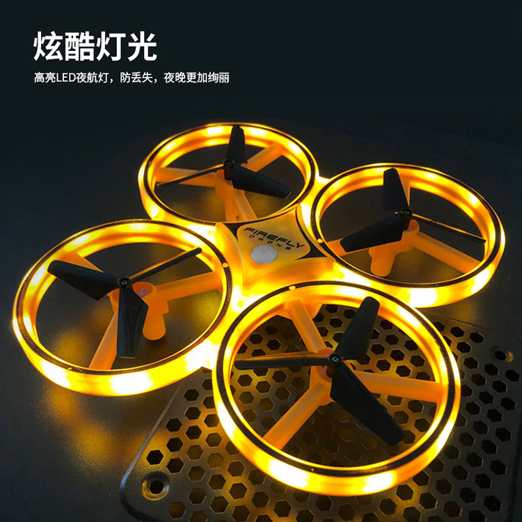 Douyin Hot Selling Watch Sensing UFO Aircraft Four-axis Smart Interactive Sensing Unmanned Aerial Vehicle Gesture Remote Control