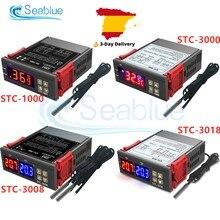 STC-1000 STC-3000 STC-3008 STC-3018 led digital controlador de temperatura termostato termorregulador incubadora 12v 24v 110v 220v