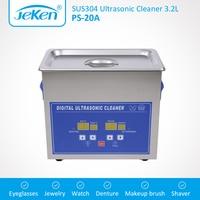 Digital Ultrasonic Cleaner 3L 120W 40KHz Adjustable Heater Timer Jewelry Watch Glasses Denture Jeken 3.2L Ultrasonic Bath Tank