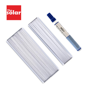 Image 1 - 10 Meters Tabbing Tab Wire + 1 Meters PV Ribbon Bus Wire + 1pc 951 Soldering Rosin Flux Pen For DIY Soldering Solar Cell Panel