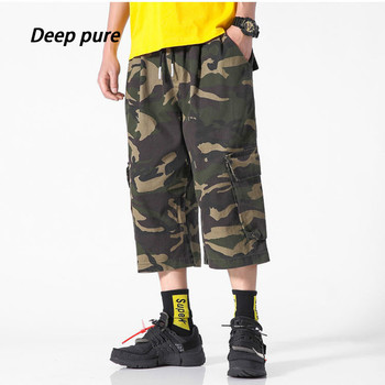 цена на men calf lengt pants camo cargo summer casual pants Calf-Length Pants pocket drawstring waist tactical military superior quality