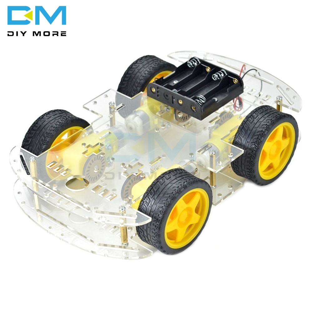 Smart Car Kit 4WD Smart Robot Car Chassis Kits Car With Speed Encoder And Battery Box Diy Electronic Kit For Arduino