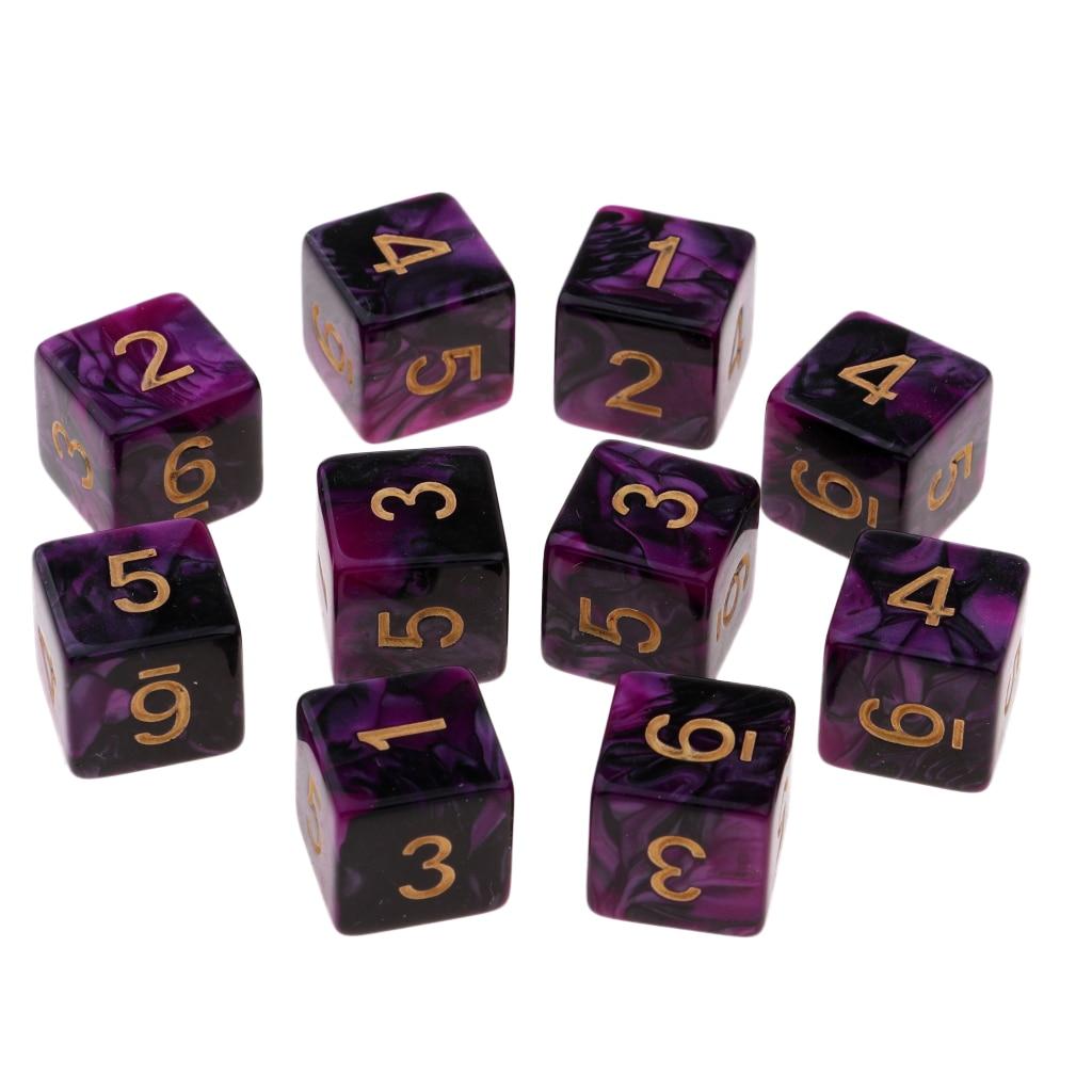 20 шт./упаковка, набор игральных костей для игры DND-Double Color D6 Square