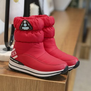 Image 4 - MORAZORA Plus size 31 43 Snow boots womens shoes platform waterproof winter boots female white warm cotton shoes ankle boots