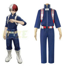 Anime My Hero Academia Todoroki Shoto Cosplay Costume Battle