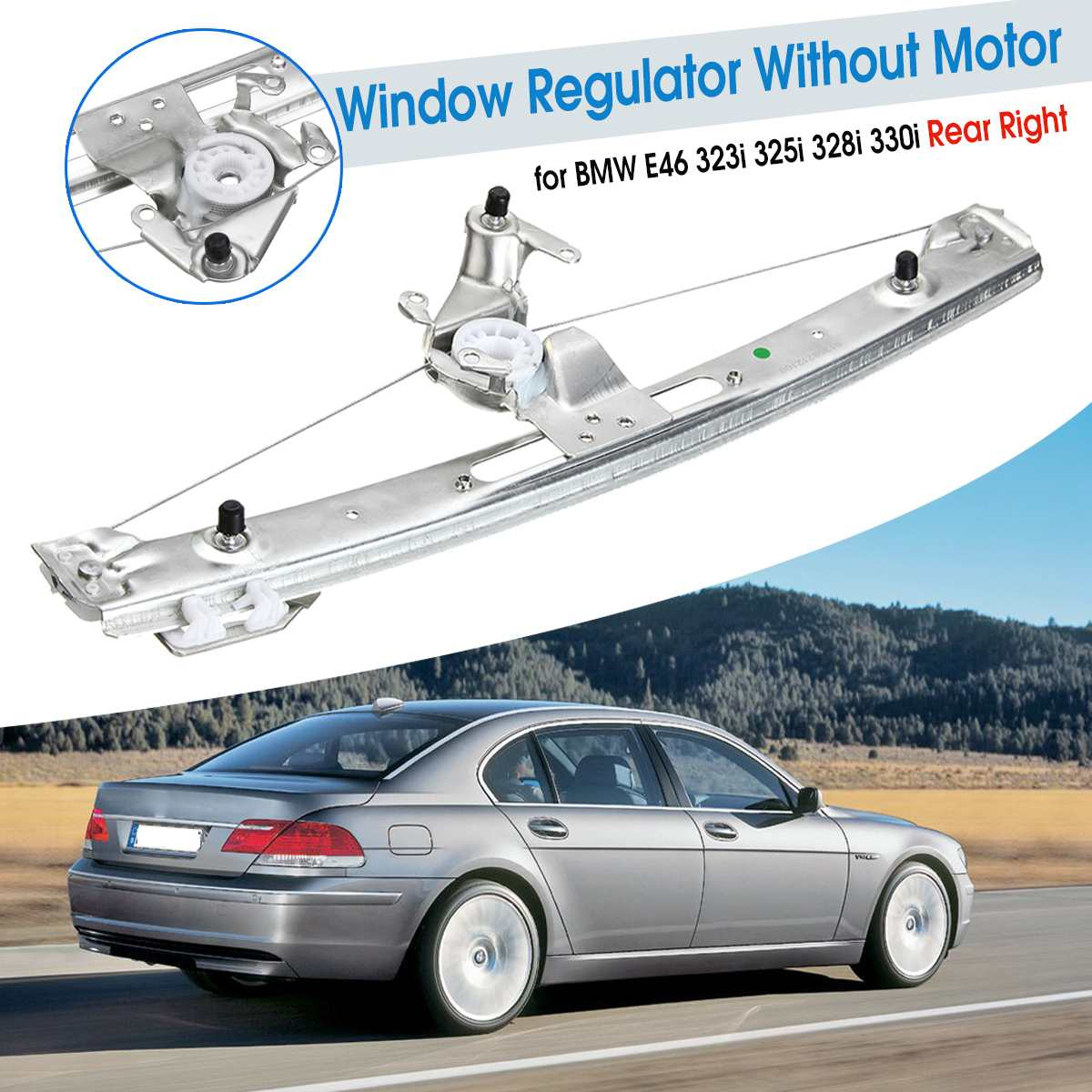 51358212100 hinten Rechts Power Fensterheber Für BMW E46 323i 325i 328i 330i 1999 2000 2001 2002 2003 2004 2005 ohne Motor