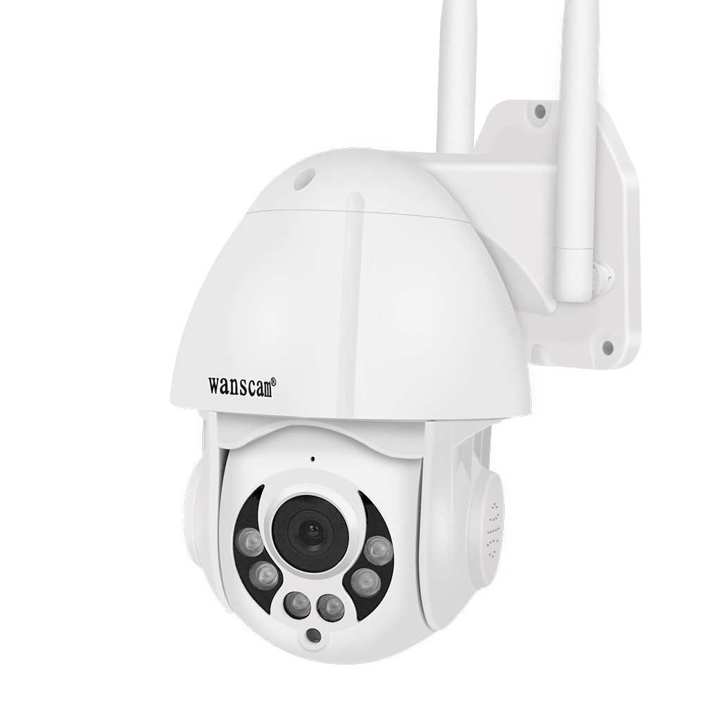 Wanscam Wifi Wireless IP Camera 1080p HD Outdoor Waterproof Network Night Vision PTZ Dome Auto-Tracking 4X Zoom 2-way Audio P2P