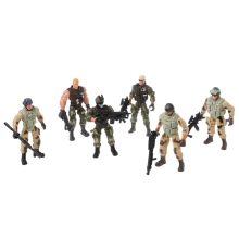 6Pcs/Set Action Figure Army Soldiers Toy with Weapon Military Figures Child