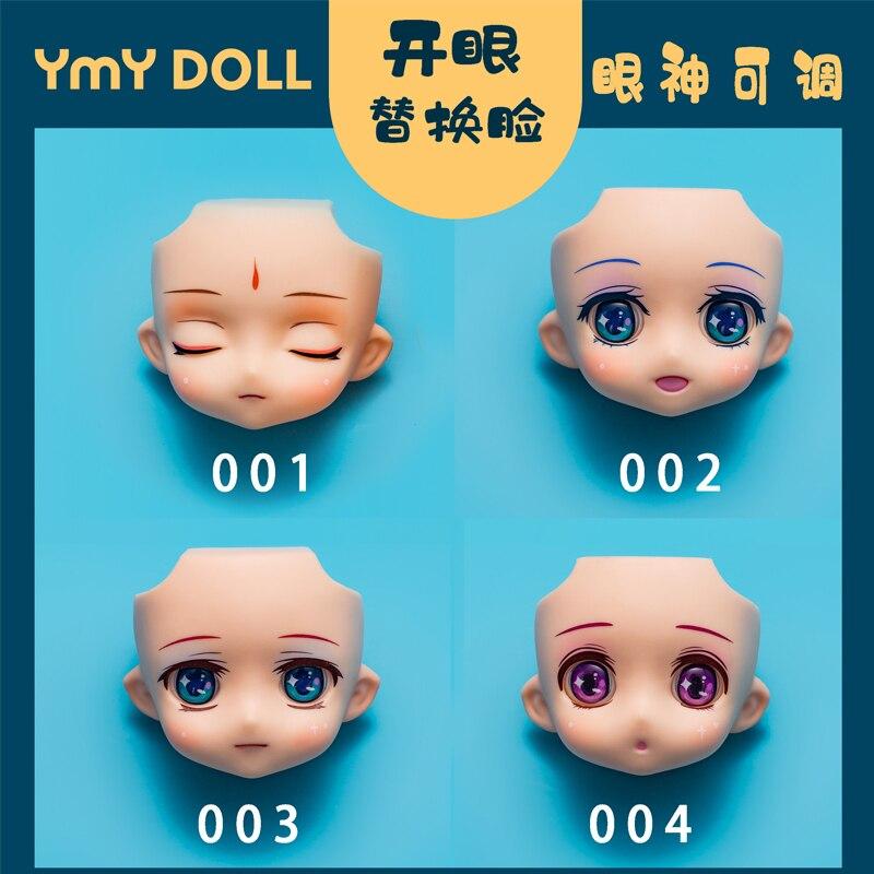 Gsc boneca rosto ob11 cabeça divisão gsc substituição rosto 1/12bjd rosto boneca acessórios olhos pode se mover