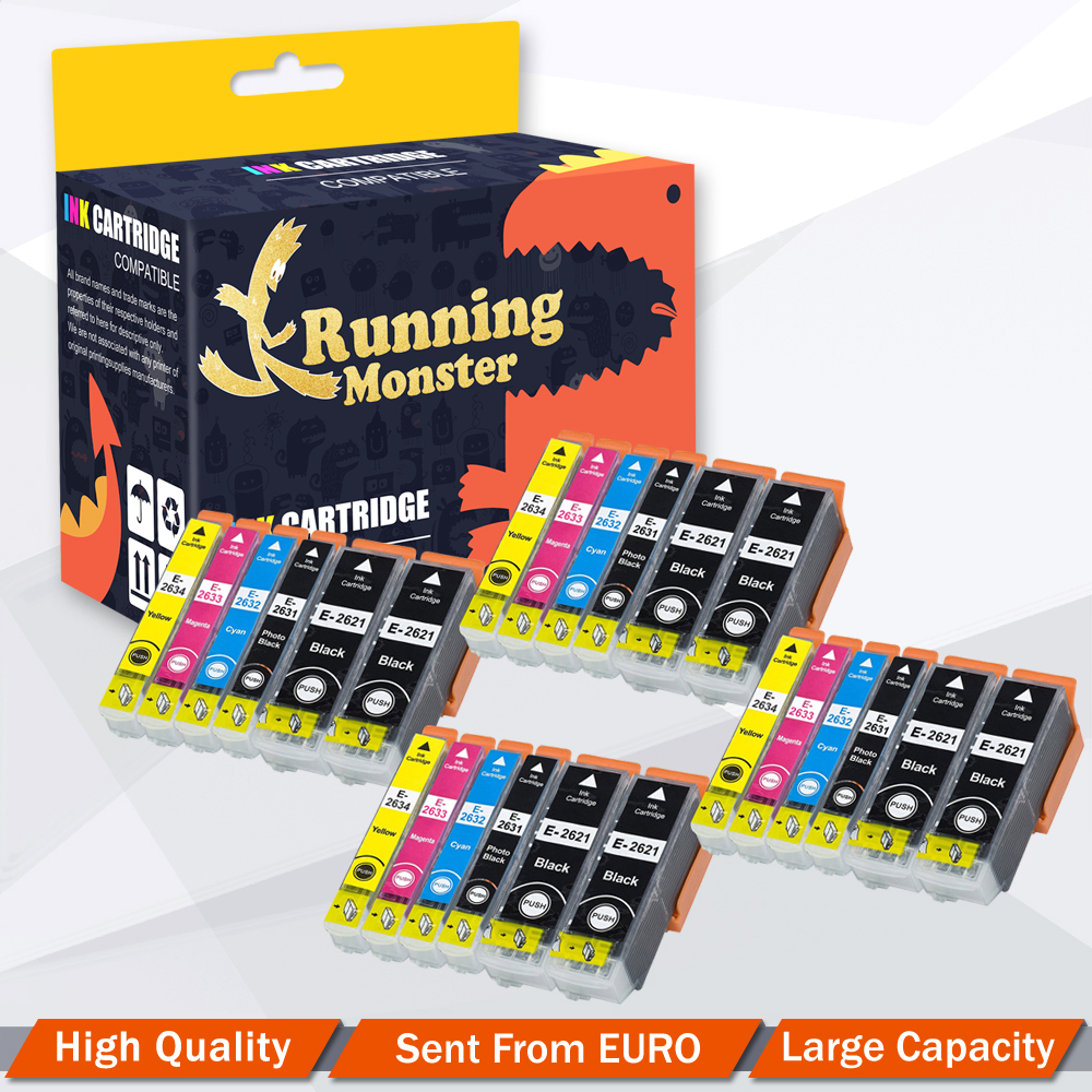 24x Compatible Ink Cartridge for <font><b>Epson</b></font> 26XL T2621 T2631 -T2634 For <font><b>Epson</b></font> <font><b>XP</b></font>-510 <font><b>XP</b></font>-520 <font><b>XP</b></font>-600 <font><b>XP</b></font>-605 <font><b>XP</b></font>-<font><b>610</b></font> <font><b>XP</b></font>-615 <font><b>XP</b></font>-620 <font><b>XP</b></font>-625 image