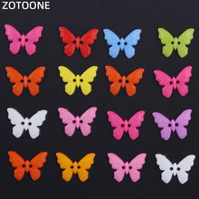 ZOTOONE 20Pcs Handmade Colorful Butterfly Buttons for Clothing Scrapbooking Accessories Sewing Coats DIY Craft Decoration E