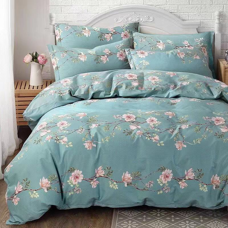 Quilt Cover + Pillow Case Decor Brand 100% Cotton Bed Sheets Na Home Textile Para Bed Sheet Flower Pattern Protector