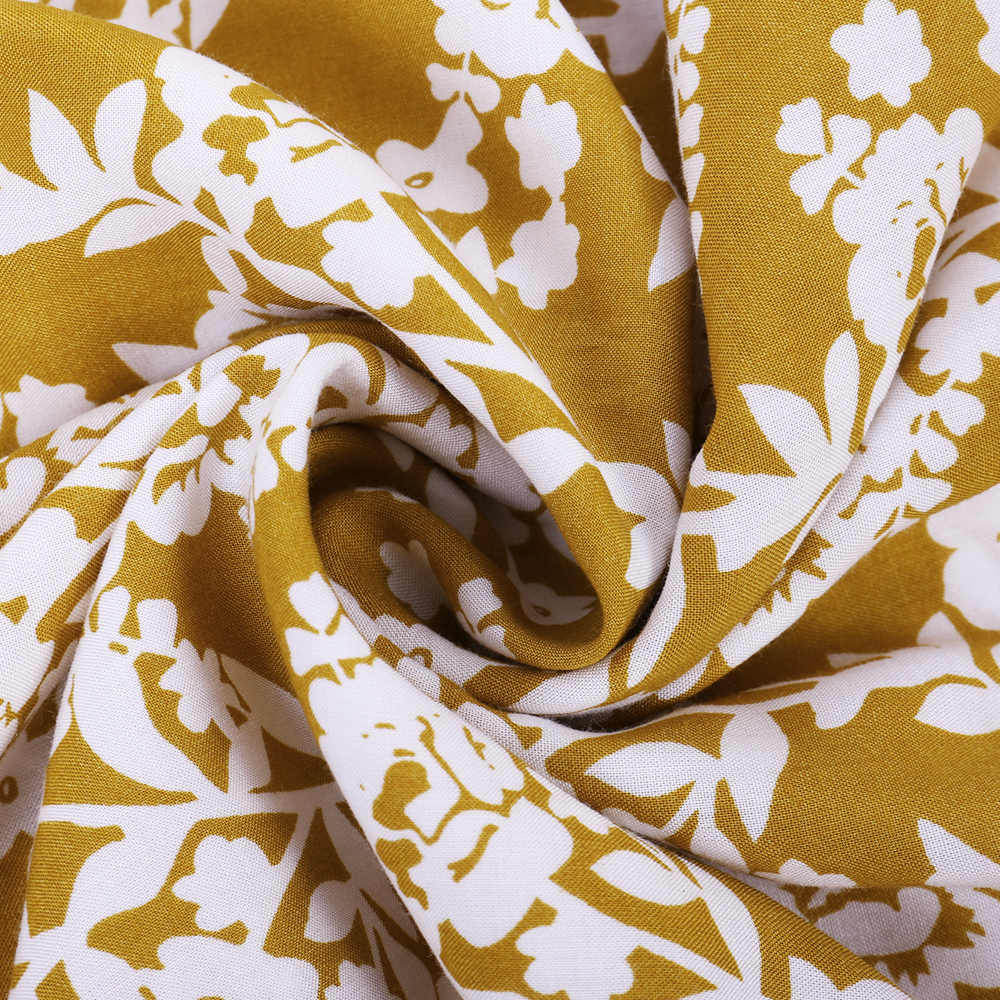 ชุดลำลองผู้หญิงลำลองดอกไม้Boho 2020 หลวมชุดชีฟองชายหาดVคอชุดเดรสแขนสั้นเซ็กซี่ชุดMaxi