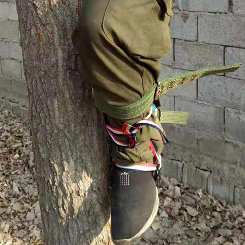2 Gears Tree Climbing Spike Set Safety Belt Adjustable Lanyard Rope Rescue Belt Tree Climbing Tool Outdoor Gadget - 6