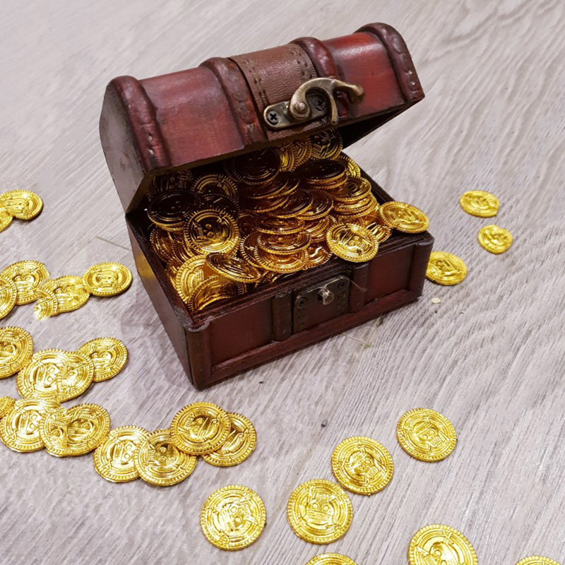 100pcs Pirate gold Coins Halloween plastic fake gold Halloween Christmas decorations for home kids favor game treasure supplies Party DIY Decorations    - AliExpress