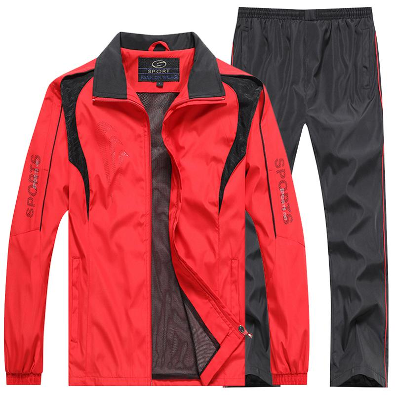Brand Men`s Sportswear Set Casual For Gym Hooded Sweatshirts Sporting Suits Men Outwear Jacket+Pants Joggers Sets Men Clothing