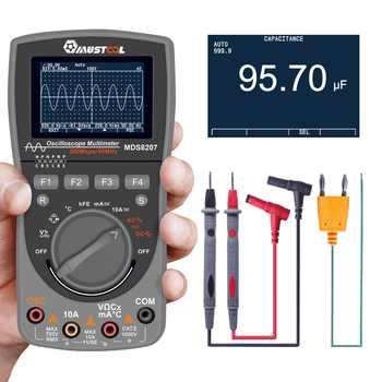 Mutabouret MDS8207 Oscilloscope Intelligent 2 en 1 le plus récent numérique 40MHz 200Msps/S 6000 compte le véritable multimètre RMS [amélioré]