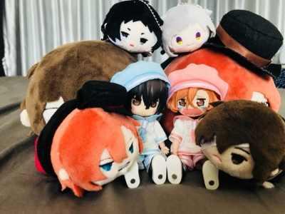 Bungo Anjing Liar Ryunosuke Akutagawa Dazai Boneka Mainan Gantungan Kunci Gantungan Kunci Tas Tali Menjadi