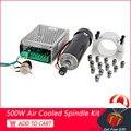 ER11 CNC шпиндель 500 Вт с воздушным охлаждением комплект двигателя шпинделя с регулируемым питанием 52 мм зажимы ER11 цанги для гравировального ст...
