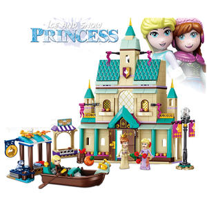 645pcs Snow World Series The Elsa`s Magical Ice Castle Set girls Building Blocks Bricks Toys Girl friend compatible with 41148