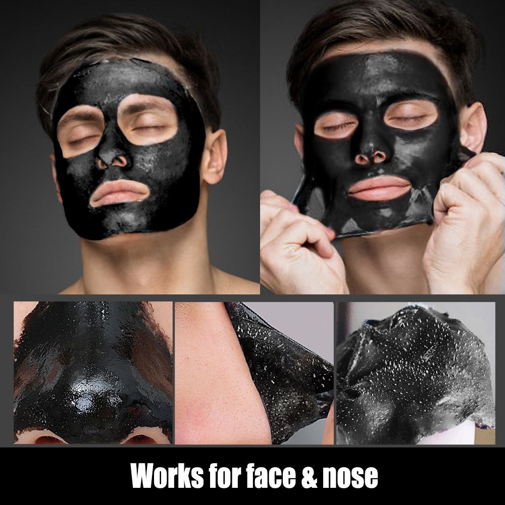 Blackhead Remover Mask Skin Care Bamboo Charcoal Against Black Dots Cleansing Peel Off Face Mask Pore Strip Acne Treatment 120g-2