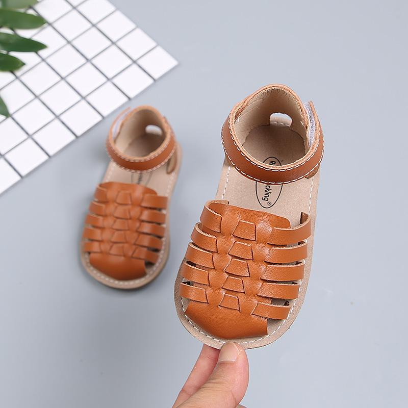 Woven Sandals Kids First Walkers Baby Shoes Roman Style  Soft Bottom  Infant Summer Girls Boys Leather Sandals SSW072