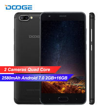 Doogee X20L 4G Lte Smartphone Android 7.0 2Gb Ram 16Gb Rom MTK6580 Quad Core Dual Camera Terug 2580Mah 5.0 Inch Gps Mobiele Telefoon