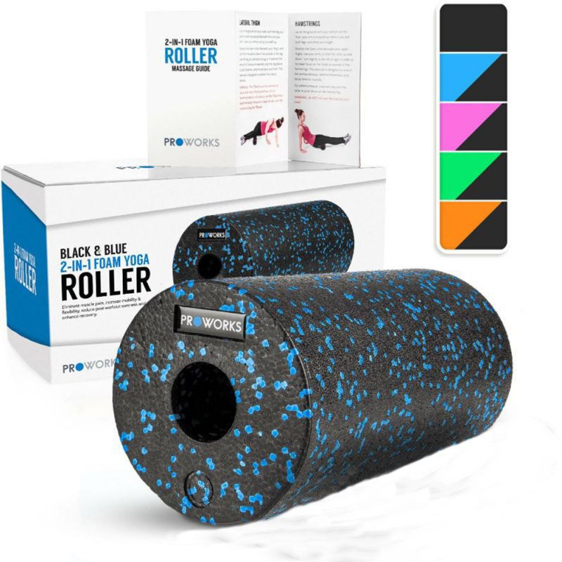 2in1 Set EPP Hollow Yoga Column Foam Roller For Muscles Feet Extra Firm High Density Self Myofascial Release Massage Back