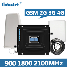 Lintratek Signal Booster GSM 2G 3G 4G Repeater 900 1800 2100MHz Amplifier GSM 900 Repeater 1800 2100 3G 4G Booster Full Kit