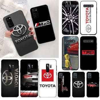 YJZFDYRM Wheel for Toyota car Black Cell Phone Case for Samsung S20 plus Ultra S6 S7 edge S8 S9 plus S10 5G lite 2020 image