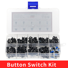 Assortment-Set Switch-Kit Diy-Tool-Accessories Push-Button Tact On/Off 10-Type 180PCS