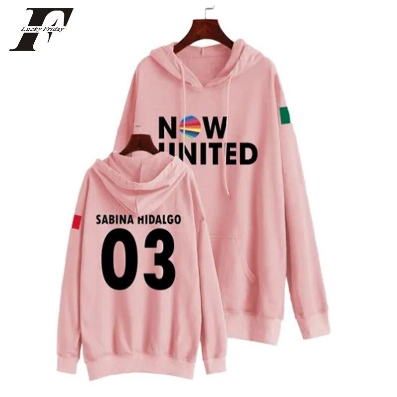 Now United Sabina Hidalgo 03 Hoodie Sweatshirts Trui Kpop Newtracksuit Streetwear Print Casual Mannen Vrouwen Printed Coat Tops 17