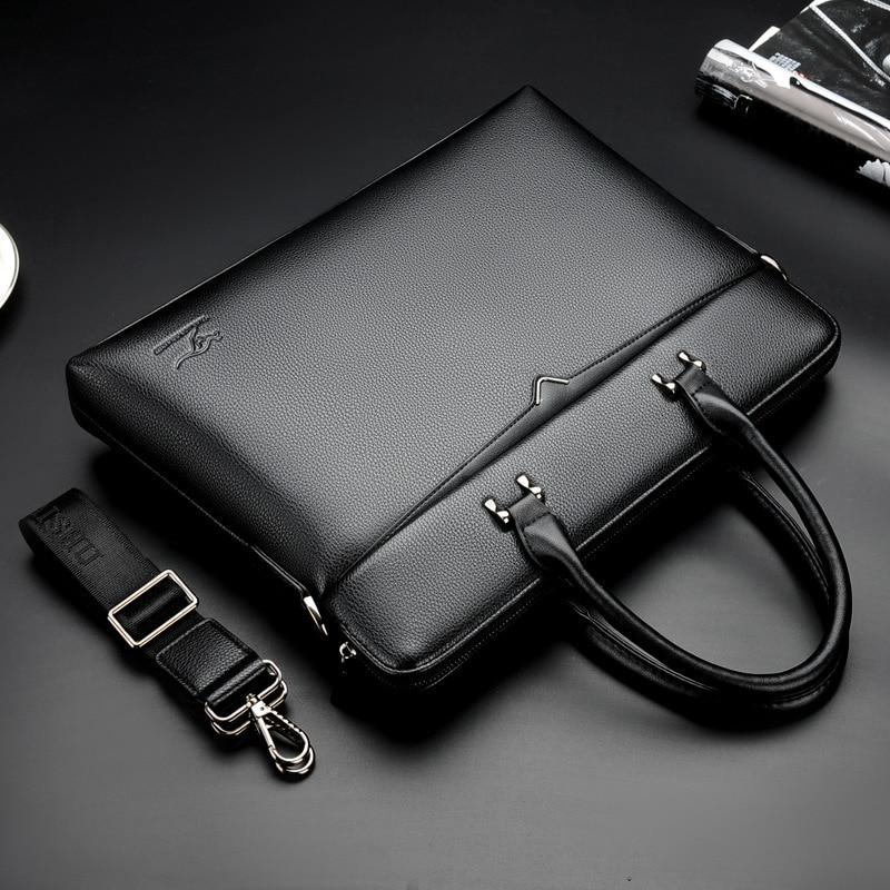 2020 Luxury Fashion Simple Famous Brand Business Casual Man Bag Shoulder Bags Men Briefcase Bag Leather Laptop Bag