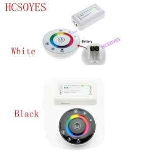 Image 1 - 18A 7 Keys RF Remote controller LED Touch Round RGB Controller DC12V DC24V