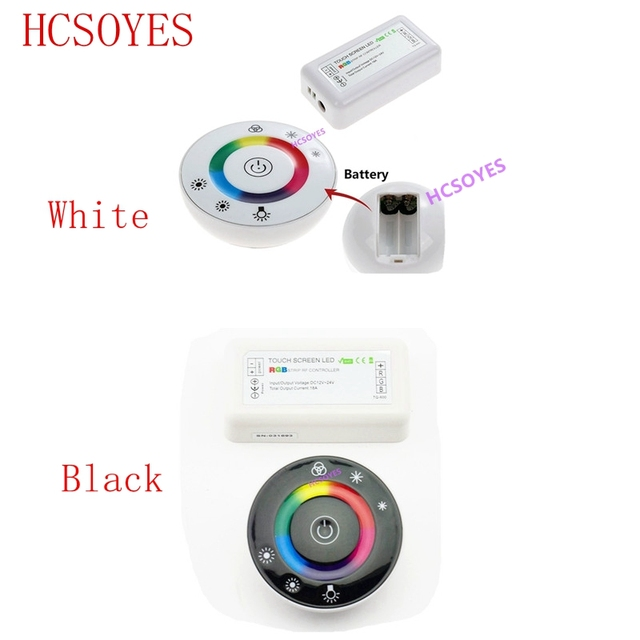 18A 7 Keys RF Remote controller LED Touch Round RGB Controller DC12V DC24V