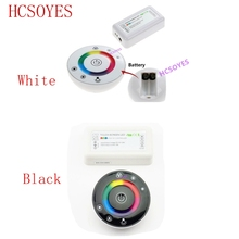 Télécommande RF 18a, à 7 touches, LED tactile, ronde, RGB, DC12V DC24V
