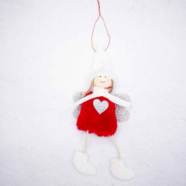 Happy New Year 2020 Latest Christmas Cute Silk Plush Angel Doll Xmas Tree Ornaments Christmas Decoration For Home Kids Gifts 18