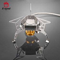X-eped Outdoor Gas Burner Windproof Camping Stove Portable Folding Ultralight Split Lighter Tourist Equipment For Hiking