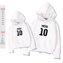 White Messi Hoodies Plus Velvet Hoodie Kpop Kids Adult Hoodie Sweatshirt Casual Hip Hop Oversized Messi 10 Pullover Streetwear(China)