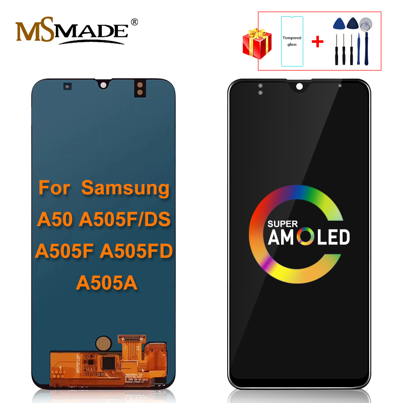 Super AMOLED <font><b>LCD</b></font> For <font><b>Samsung</b></font> Galaxy <font><b>A50</b></font> 2019 A505F/DS A505F A505FD A505A <font><b>LCD</b></font> <font><b>Display</b></font> Touch Screen Digitizer Replacement Parts image