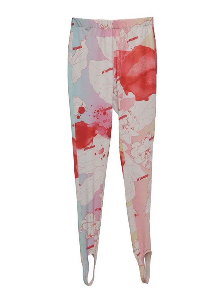 TWOTWINSTYLE Women's Trousers Pencil-Pants Color High-Waist Fashion Hit Streetwear Print
