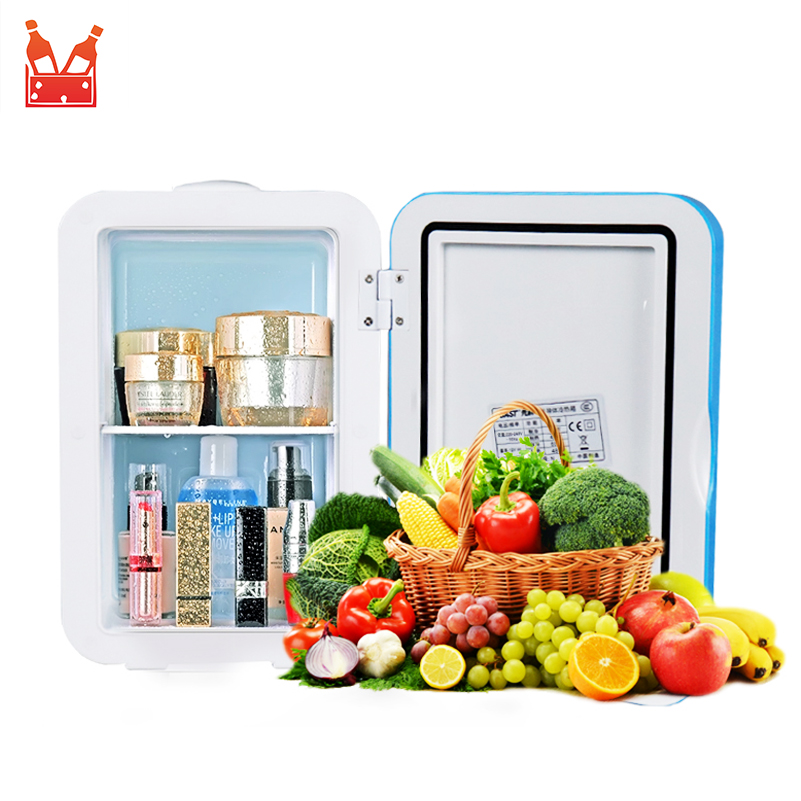 Electric Car Home Mini Refrigerator Fridge Dual-Use Cool Warmer 4L 220V 12V Dormitory Cans Beer Cooler Cosmetic Makeup Fridge