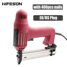 Staples Nail-Guns Working-Tools Electric HIFESON Nailer220v Furniture Carpentry-Wood