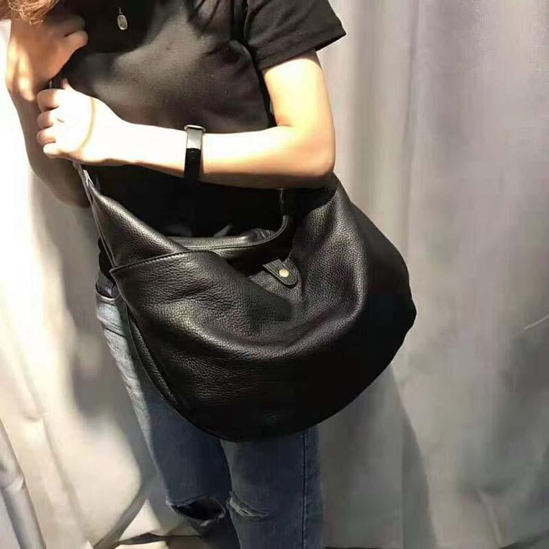 Mulher dobrável macio sacos de ombro moda