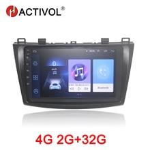 HACTIVOL 2G+32G Android 8.1 Car Radio for Mazda3 2011-2015 car dvd player gps navigation car accessory 4G multimedia player hactivol 2 din car radio face plate frame for mazda3 2011 2015 car dvd gps navigation player panel dash mount kit car accessory